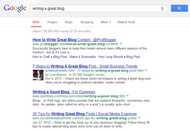 Writing a Great Blog