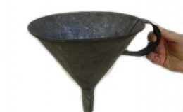 metal funnel