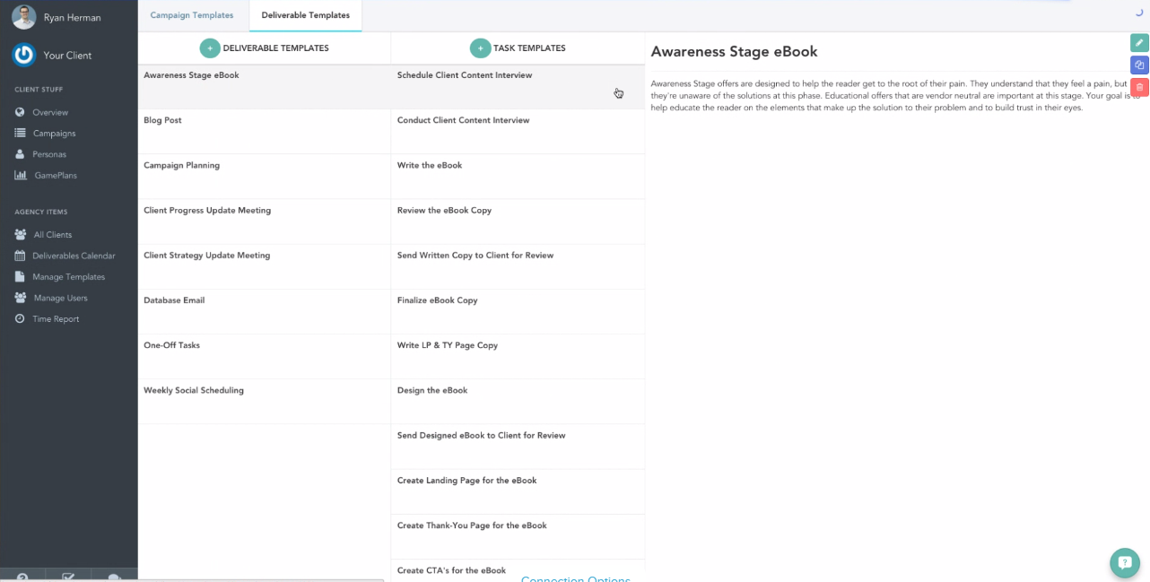doinbound - screenshot showing Templates